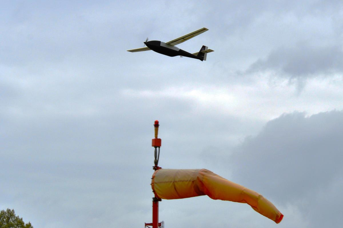 The Ion Tiger UAV completes its record-breaking flight