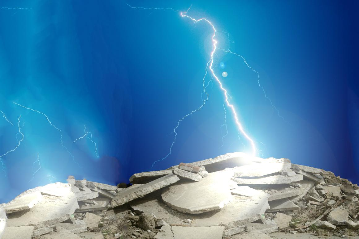 A new method can recycle concrete with greater efficiency by zapping it with lightning (Images: Shutterstock [1] [2])