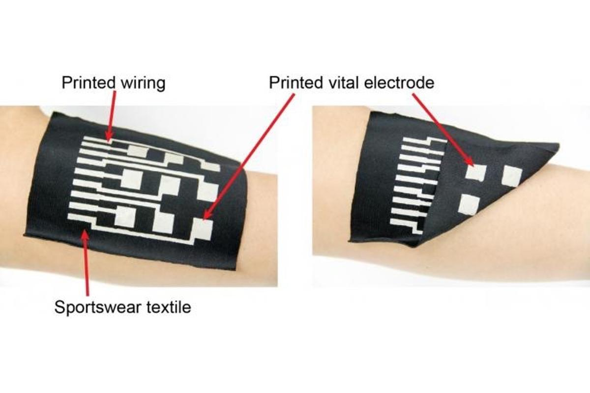 A new conductive ink can be applied to clothing and other textiles in a single-step printing process, thereby turning fabrics into sensors and wearable electronics