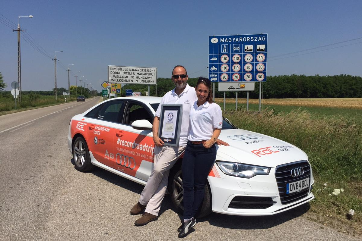 Andrew Frankel and Rebecca Jackson set off from Maastricht at 9:48 am (GMT) on Tuesday, June 9, and finished at 12:44 pm (GMT) the following day in Hungary