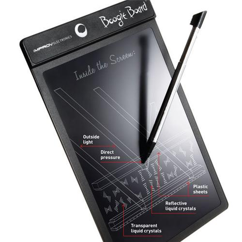 The pressure sensitive LCD display requires no power to retain an image and is ideal for virtually any task that requires a temporary note to be taken.