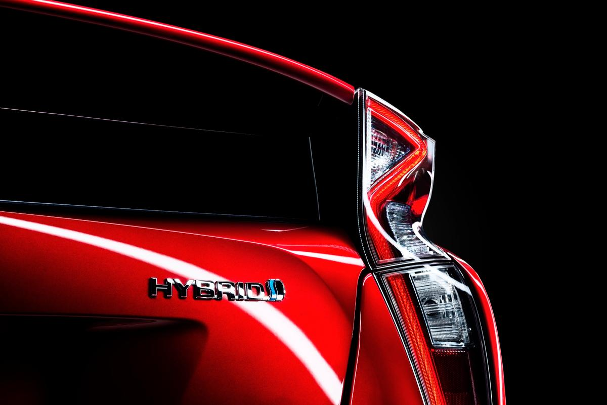 The new Prius features a new combination taillight design