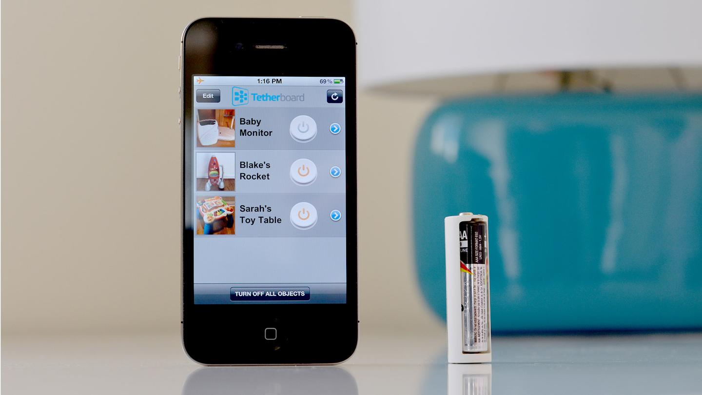 Tethercell is the size of a AA battery, but it draws power from a AAA battery