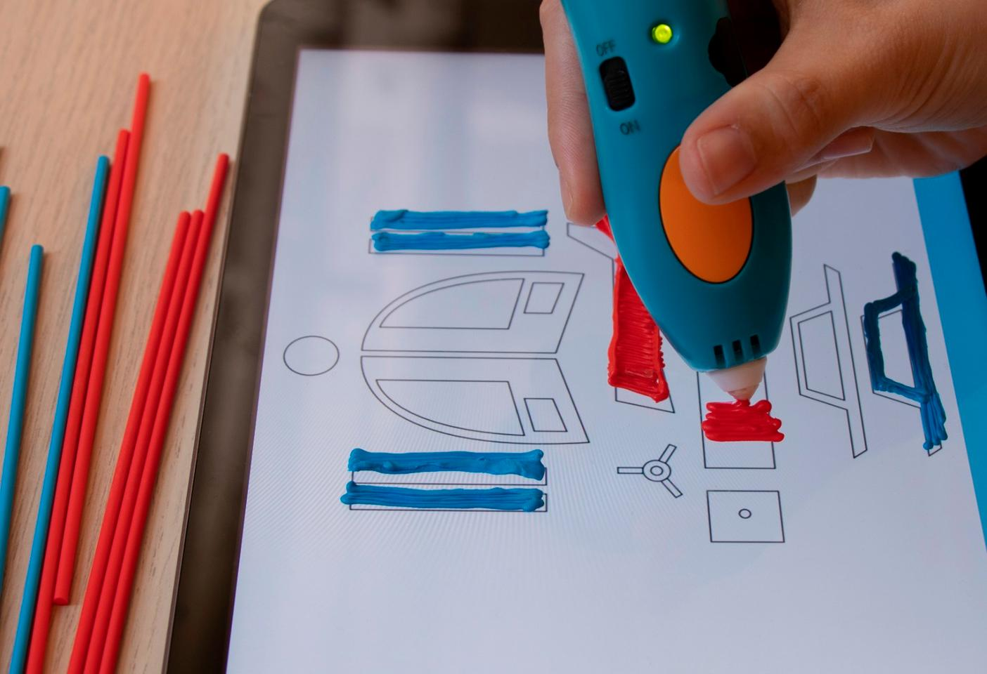 The 3Doodler App will walk users through 3D drawing basics