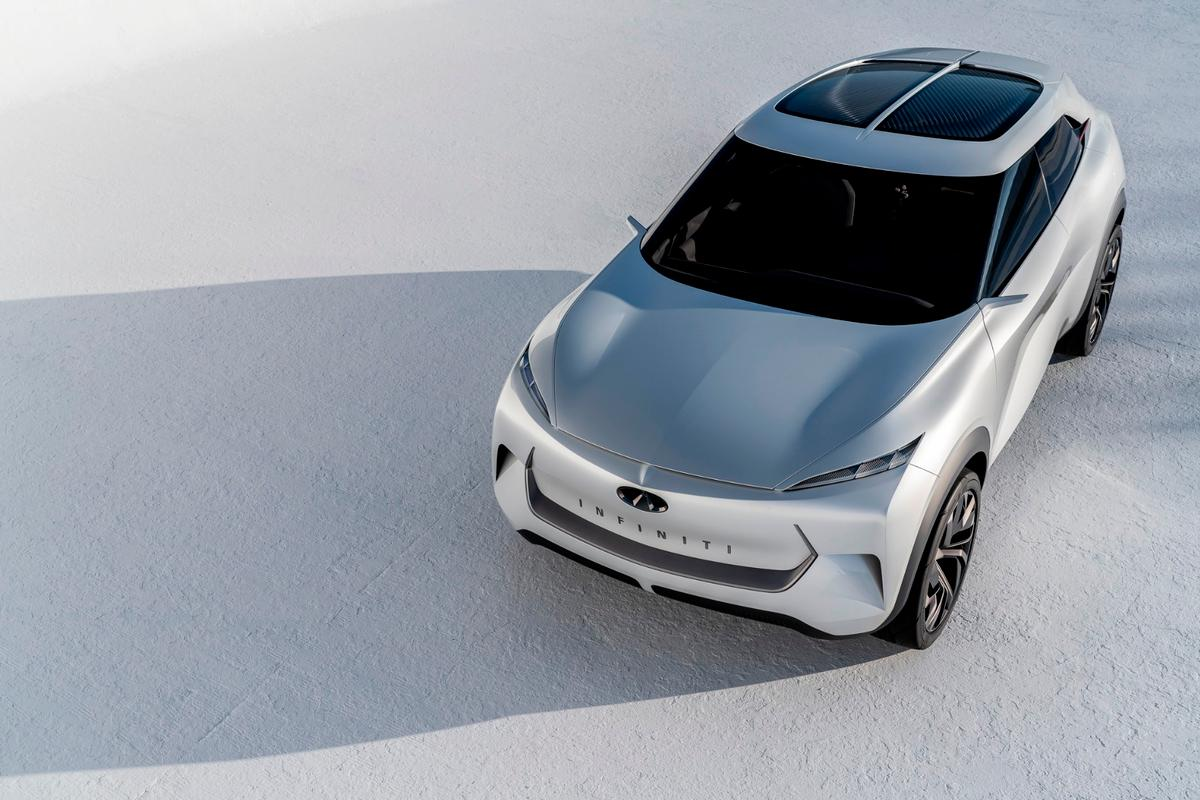 The Infiniti QX Inspiration is a mid-sized sport utility concept and should be seen as a precursor for the Infiniti brand's planned fully-electric vehicle, Infiniti says