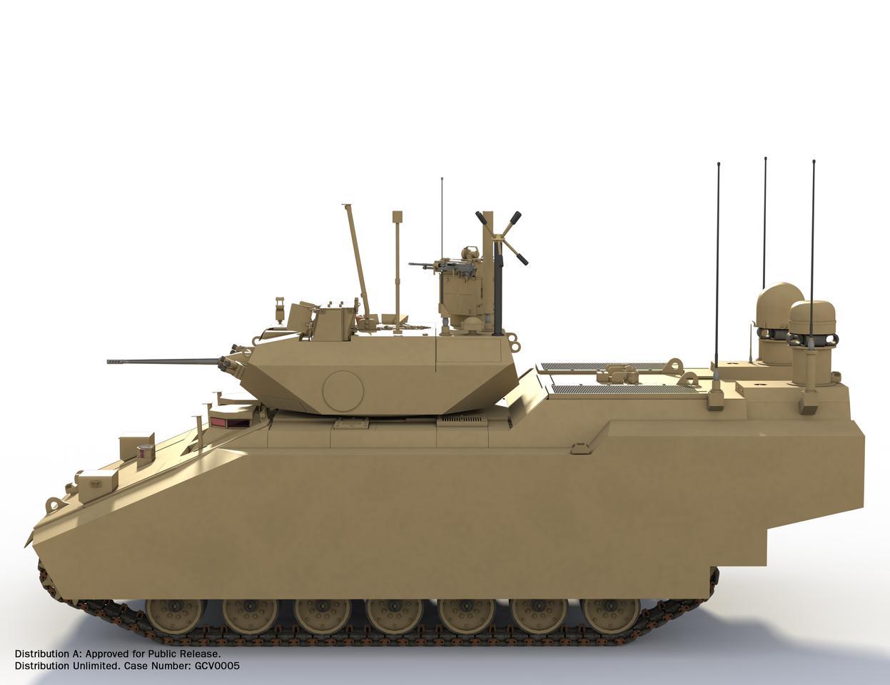 Artist's concept of the BAE Systems/Northrop Grumman hybrid GCV