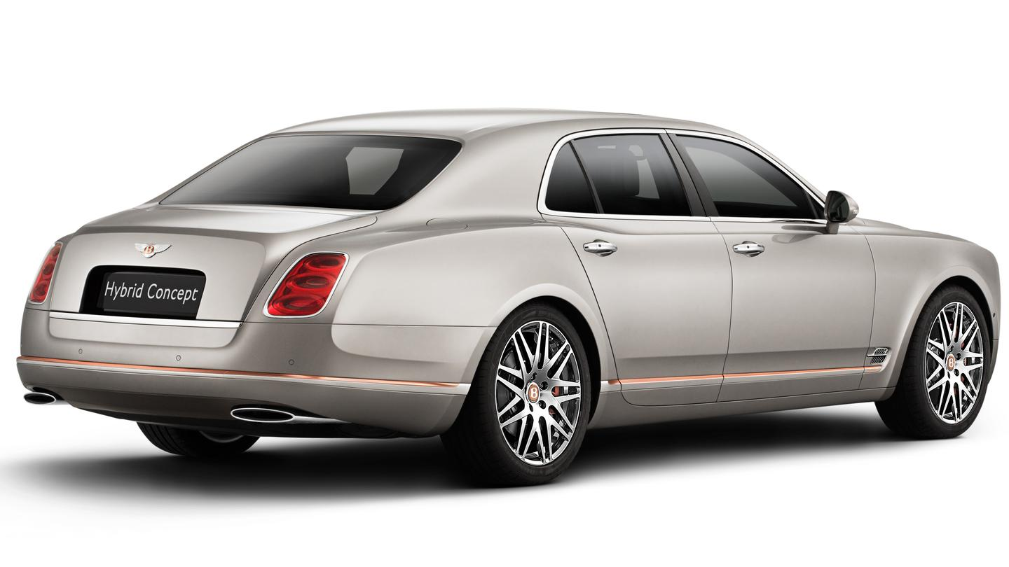 Bentley says that the hybrid powertrain will cut CO2 emissions by 70 percent versus gas models