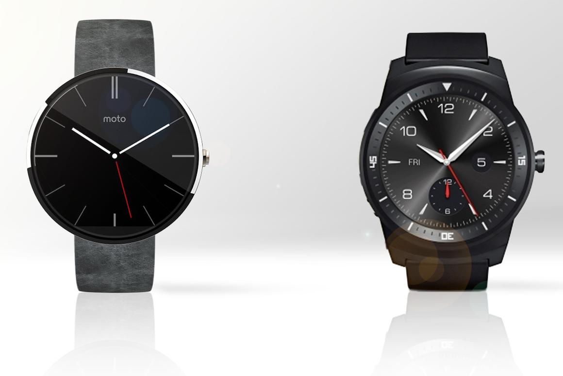 Gizmag compares the features and specs of the Moto 360 (l) and LG G Watch R smartwatches