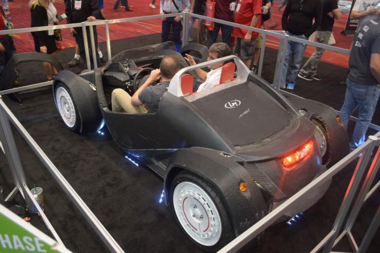 Local Motors performed an encore to its IMTS appearance, live-printing a Strati car at SEMA