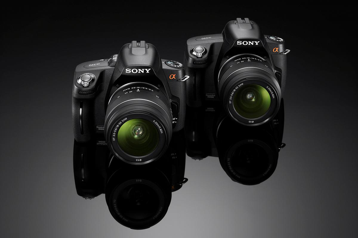 Sony's new A290 and A390 digital SLRs are available now for pre-order and share many features, the latter justifying a higher price with the inclusion of a tilting display and Live View image preview