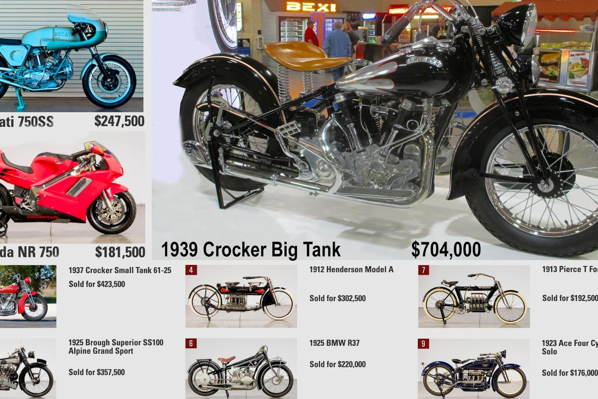 The motorcycle marketplace displayed a considerably different mood than we've been accustomed to in Vegas this year, blowing away auction records and illustrating that the tastes of the buying public are changing. While vintage and veteran bikes performed well at the top, the real movers were two-strokes, seventies classics and Japanese motorcycles in general.