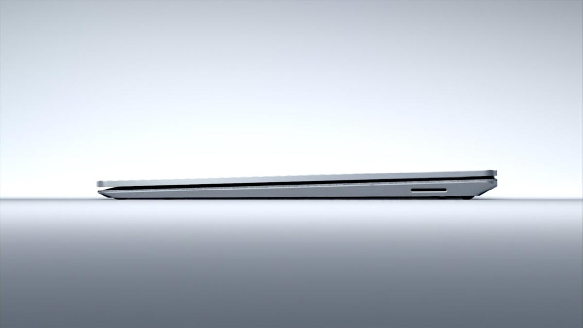 The Surface Laptop's tapered profile