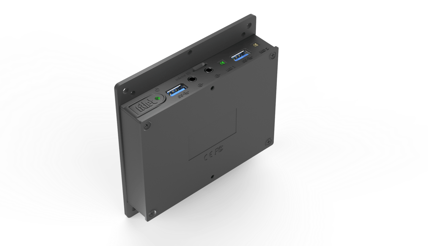 The fitlet2 can be direct mounted via VESA or DIN-rail