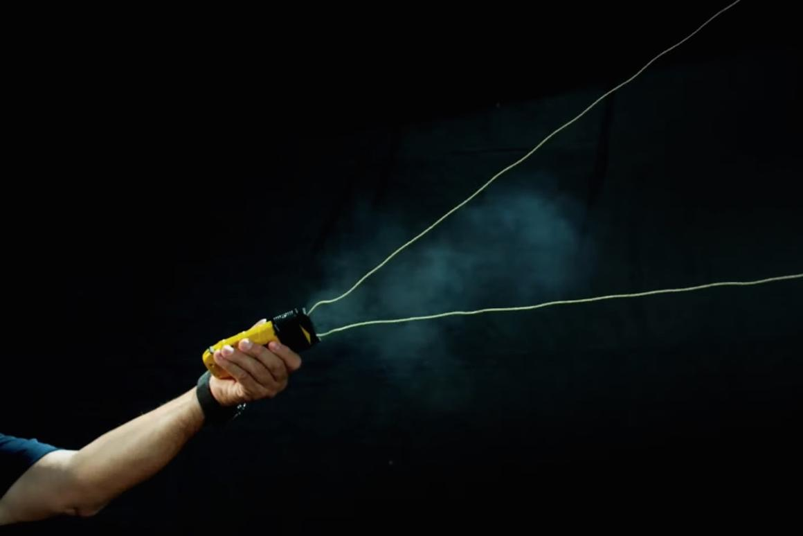 The BolaWrap 100 can shoot a body-wrapping Kevlar tether up to 25 feet (7.6 m)