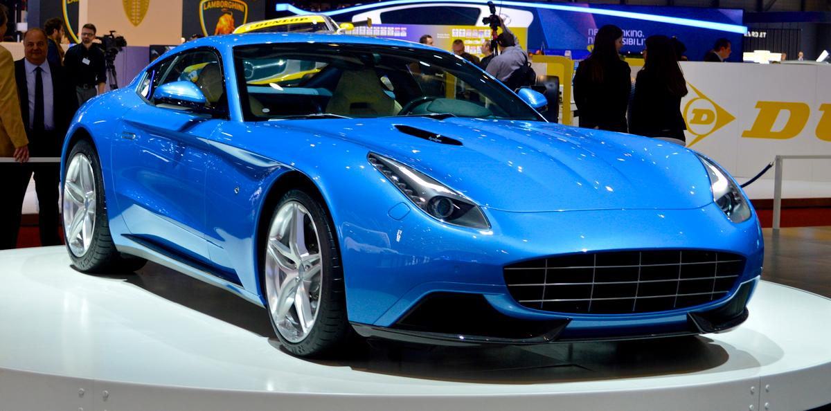 The front 3/4 view shows the wonderful proportions of the Touring's Berlinetta Lusso(Photo: C.C. Weiss/Gizmag.com)