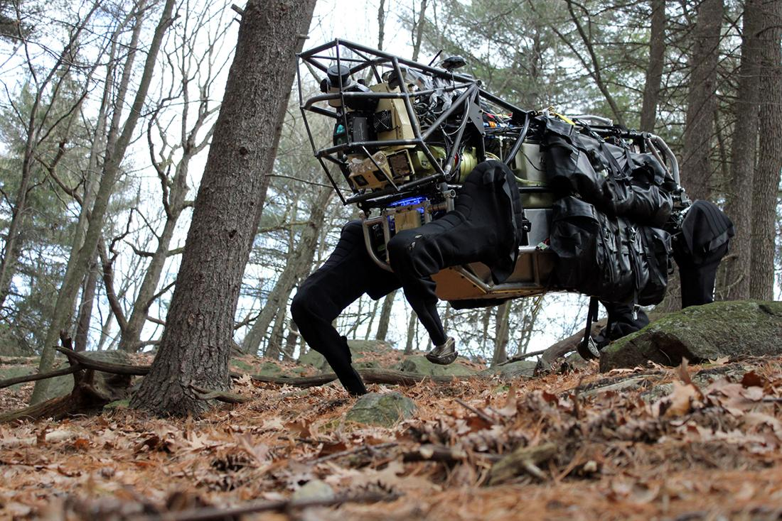 DARPA and Boston Dynamics' robotic pack mule, the LS3, is designed to follow soldiers wherever they may go