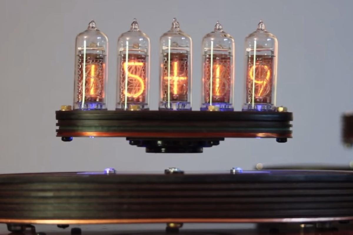 The Levitating Nixie Clock, living up to its name