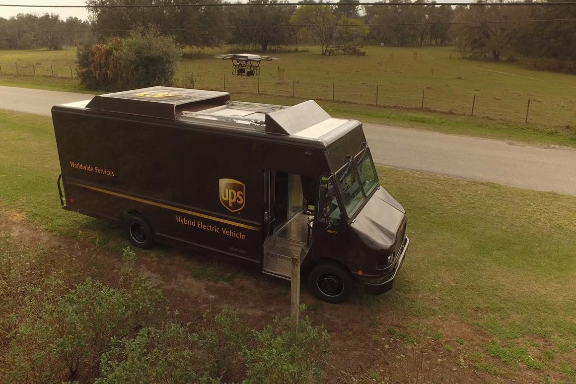 UPS has conducted a field trial of a delivery drone that launches from the roof of a UPS truck