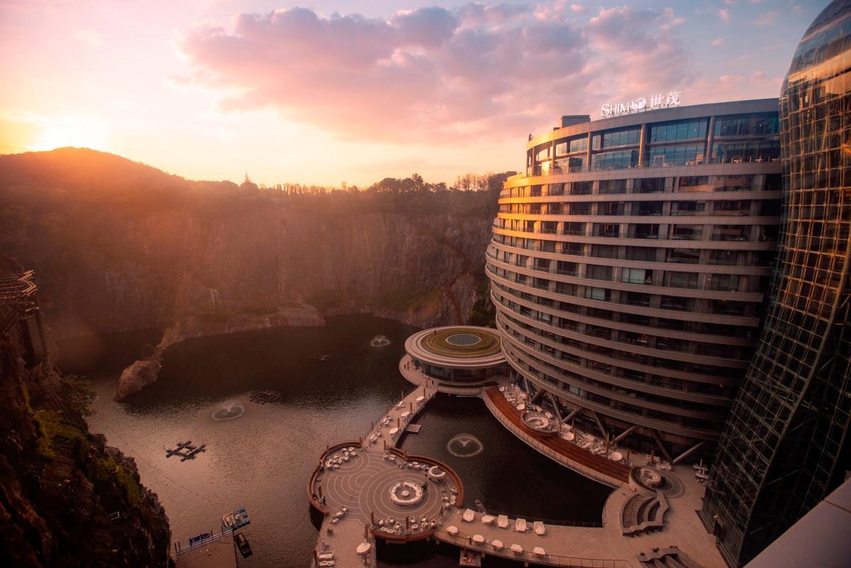 The Shimao Wonderland Intercontinental Hotel is located in Songjiang , Shanghai, China