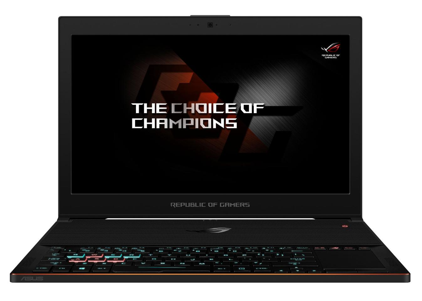 Asus has positioned the backlit keyboard to the front of the chassis