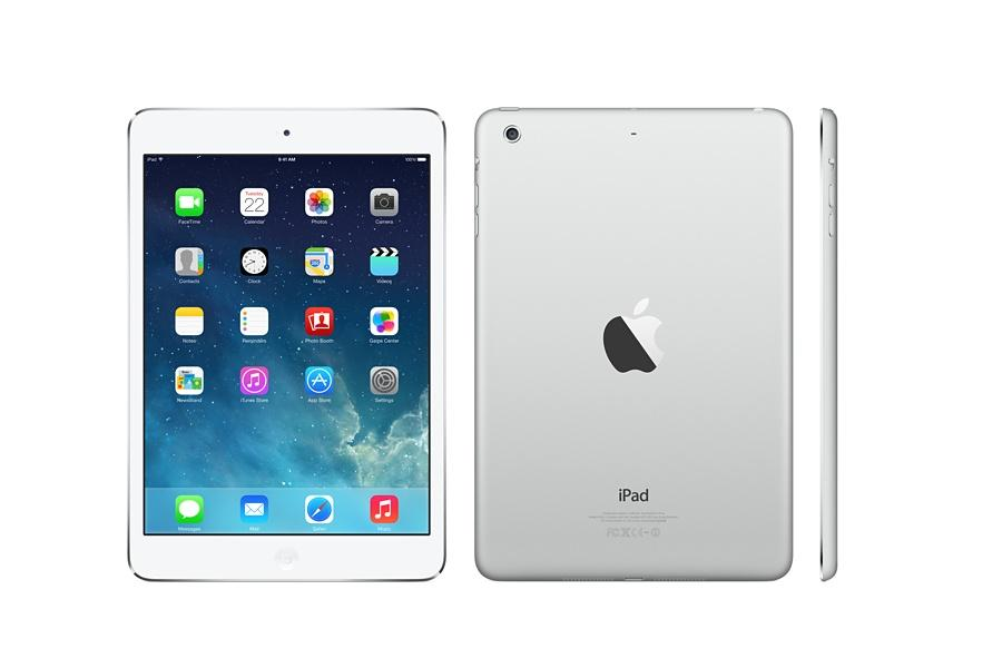 The new iPad Mini comes in two hues, including silver