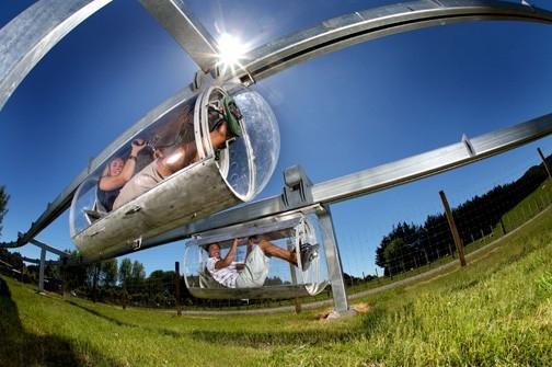 Shweeb human-powered monorail