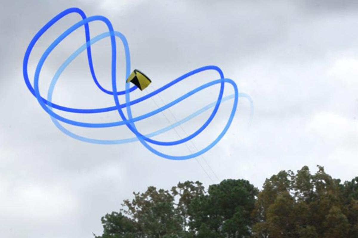 The system developed at Langley flies a kite in a figure-8 pattern to power a generator on the ground (Photo: NASA)