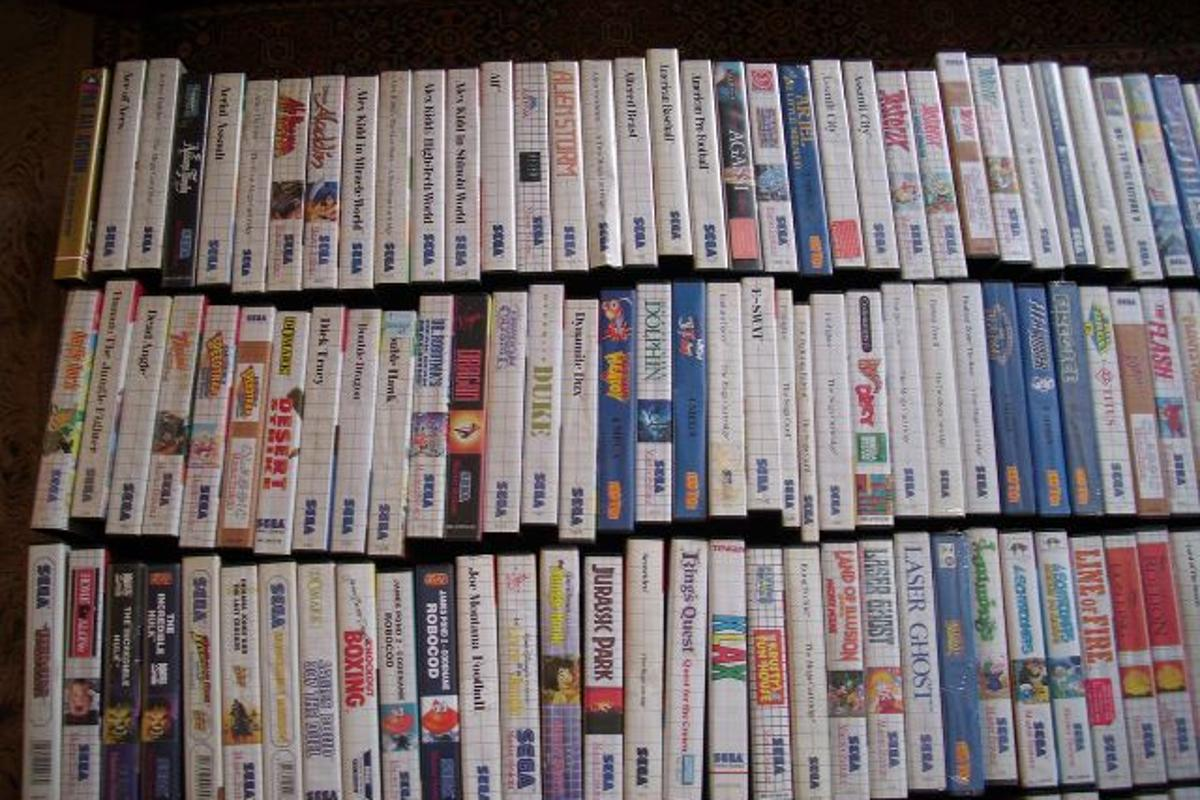 Hundreds of Sega Master System games which made up part of an eBay auction