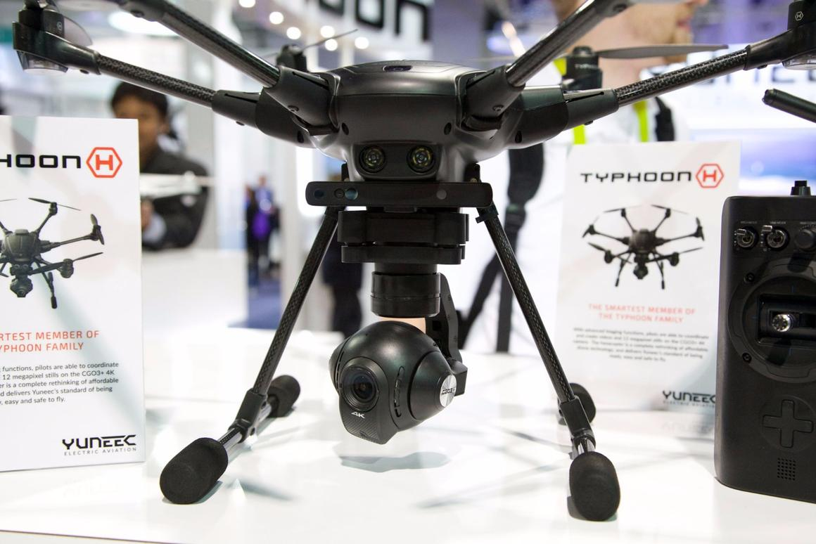 The Typhoon H has a gimbaled HD camera