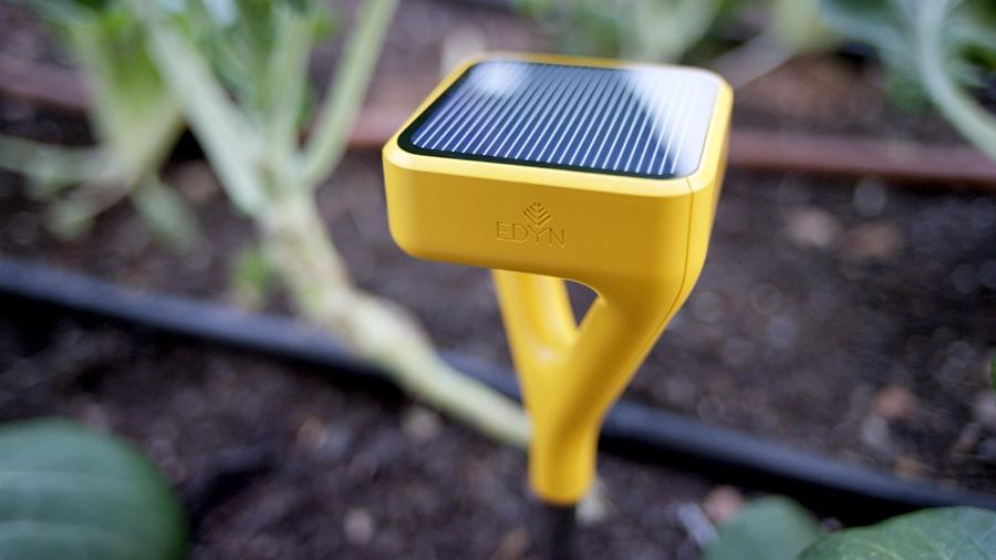 The Edyn smart garden system helps monitor and track conditions in the garden