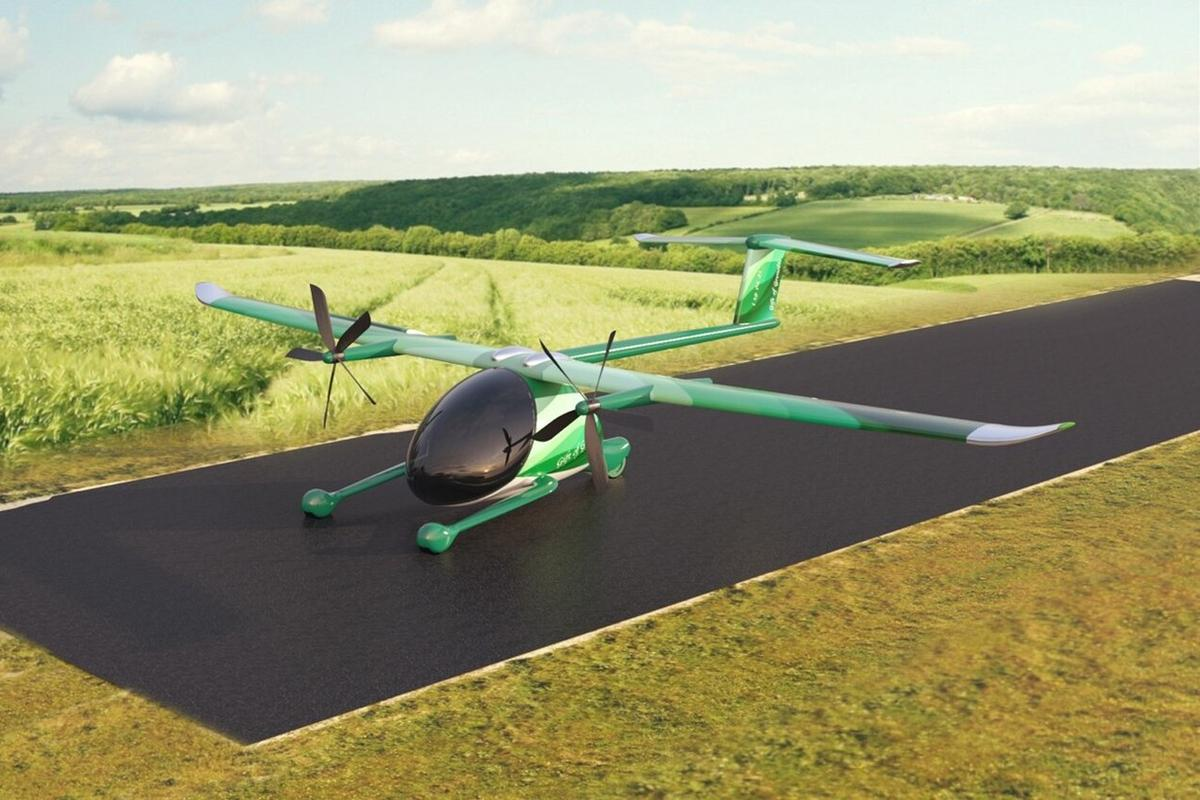 Metro Hop says its electric STOL aircraft will be able to take off and land on a 25-meter roll-out rubber runway