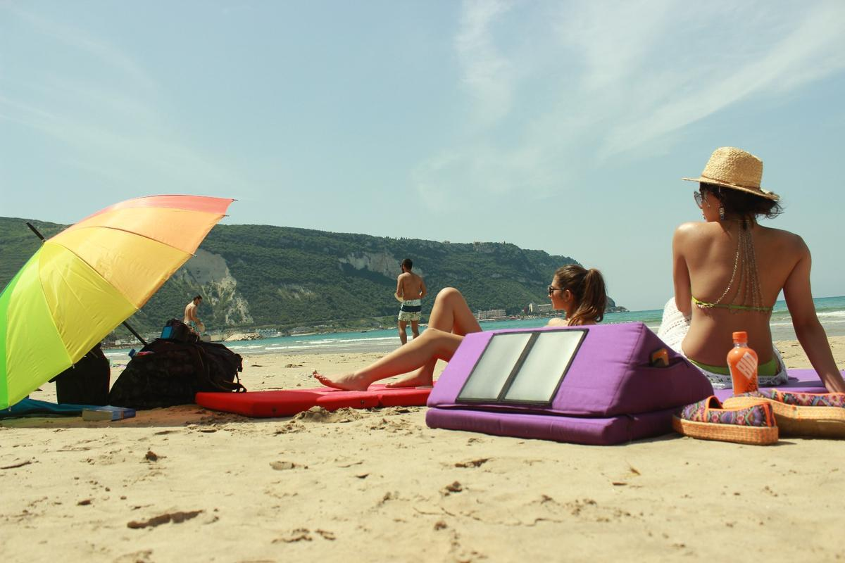 The Beachill A-Zero mattress is designed to make days at the beach more comfortable