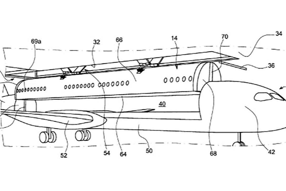 The patent puts forward a vision of a very different airport experience