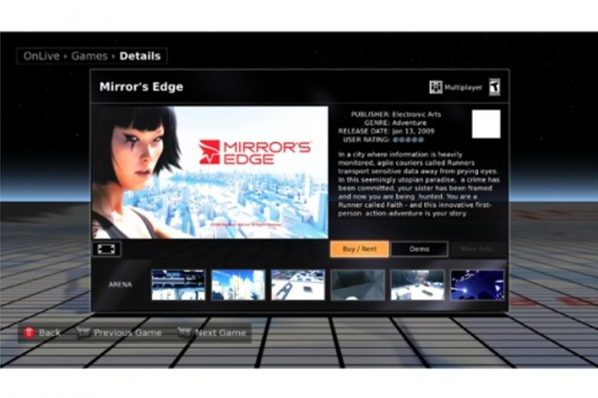 OnLive will provide a world of gaming titles at your fingertips