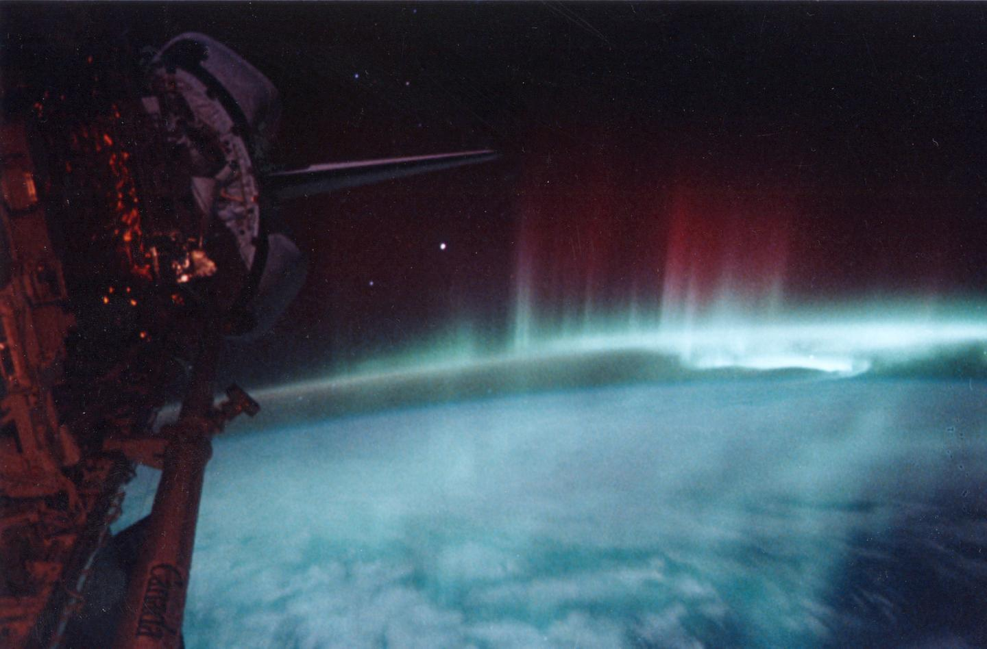 Aurora Australis as seen from the International Space Station (Image: NASA)