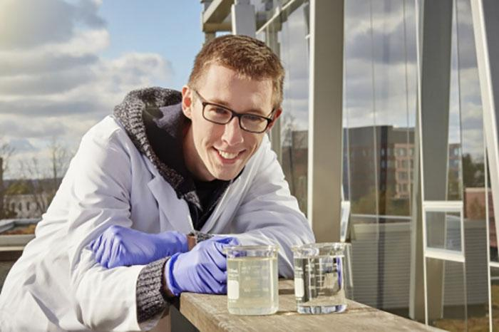 The University of Waterloo's Tim Leshuk says his team has found a greener, more practical way to treat polluted oil sands wastewater