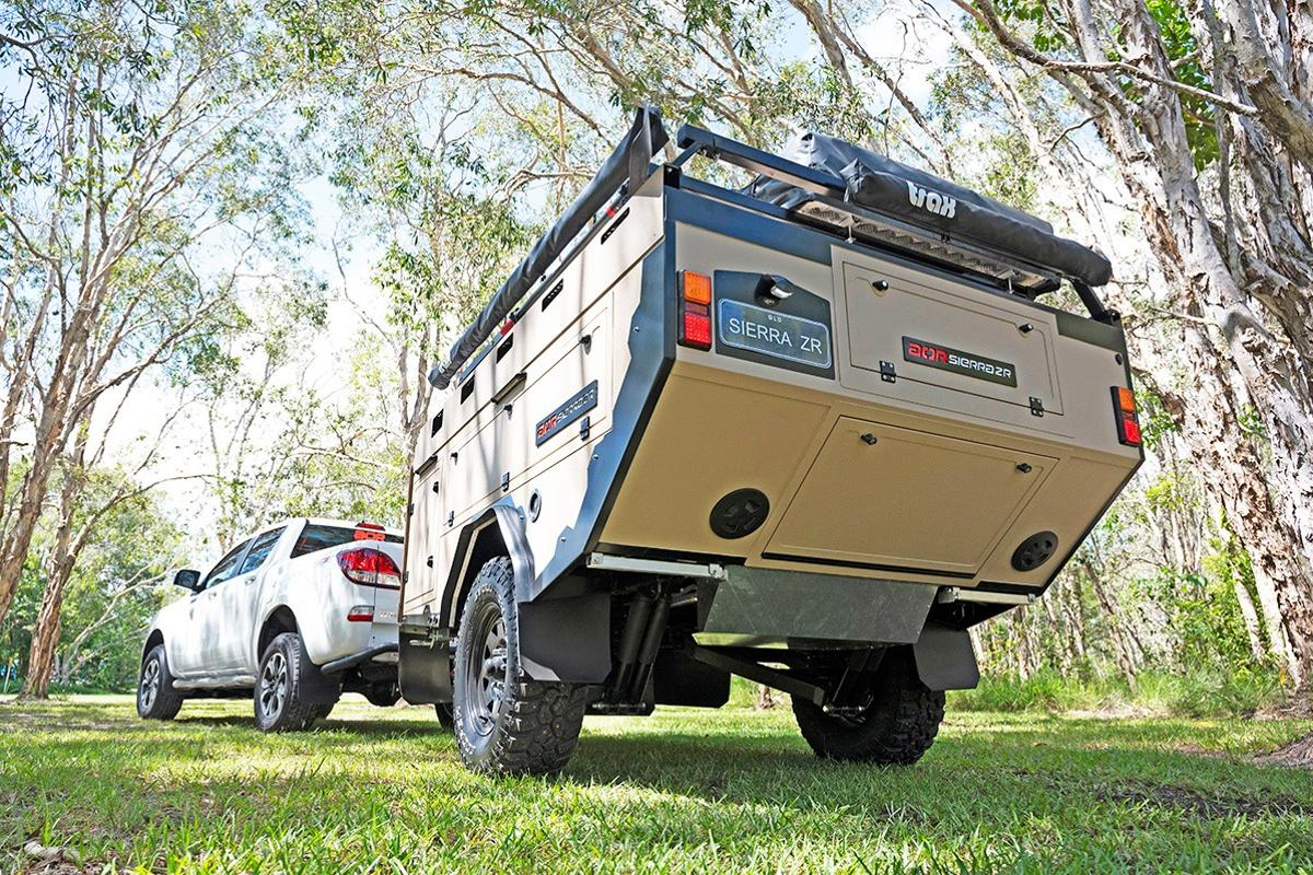 AOR's Sierra ZR camper trailer is a basic, build-it-out-yourself off-road trailer for the entry buyer