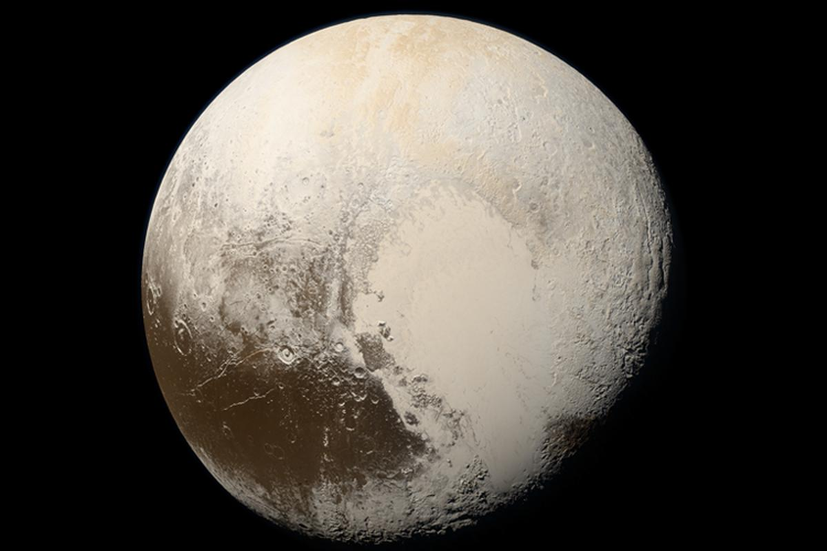 Natural color images of Pluto taken by NASA's New Horizons spacecraft in 2015