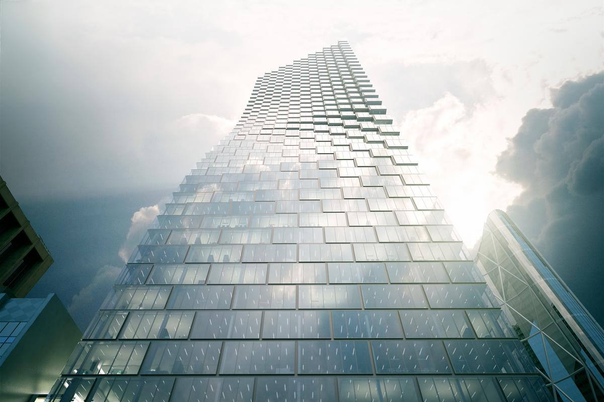 Telus Sky Tower is scheduled for completion in late 2017 (Image: BIG)