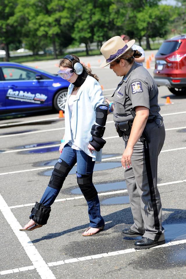 The Drugged Driving Suit works in a way similar to the Drunk Driving Suit Ford introduced last year