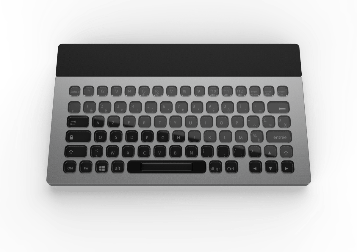 The layout and language of the Nemeio keyboard can be changed instantly using navigation buttons on the peripheral itself or via the companion configuration software