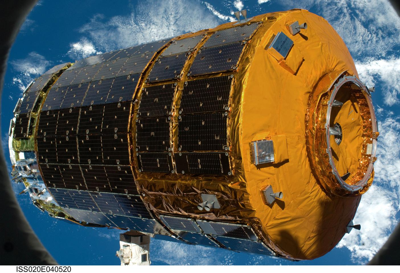 The unmanned Japanese H-II Transfer Vehicle (HTV) fitted with the Common Berthing Mechanism (Photo: NASA)