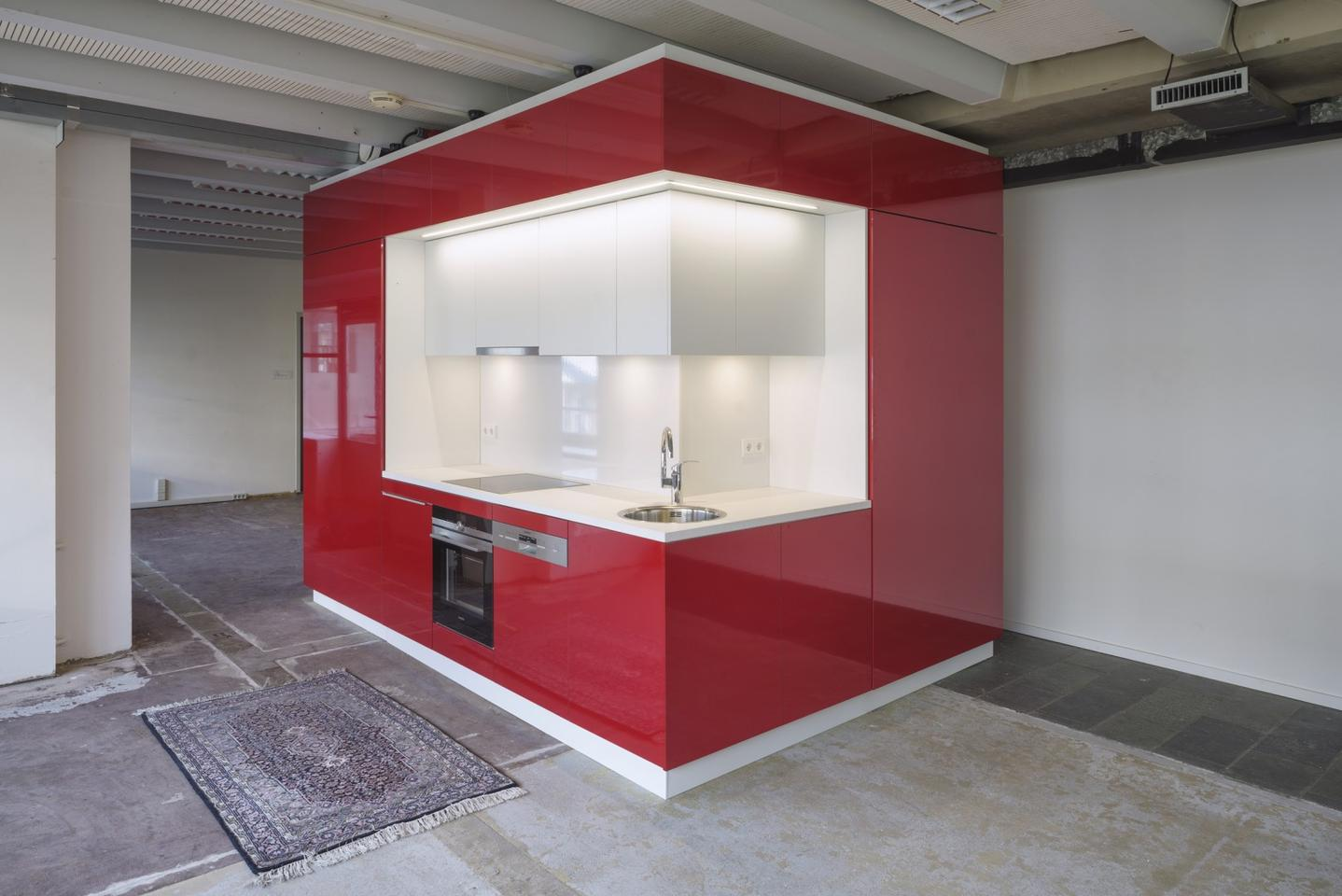 The Hub contains a kitchen, a bathroom with a toilet and facilities including heating, a sound system and an internet connection