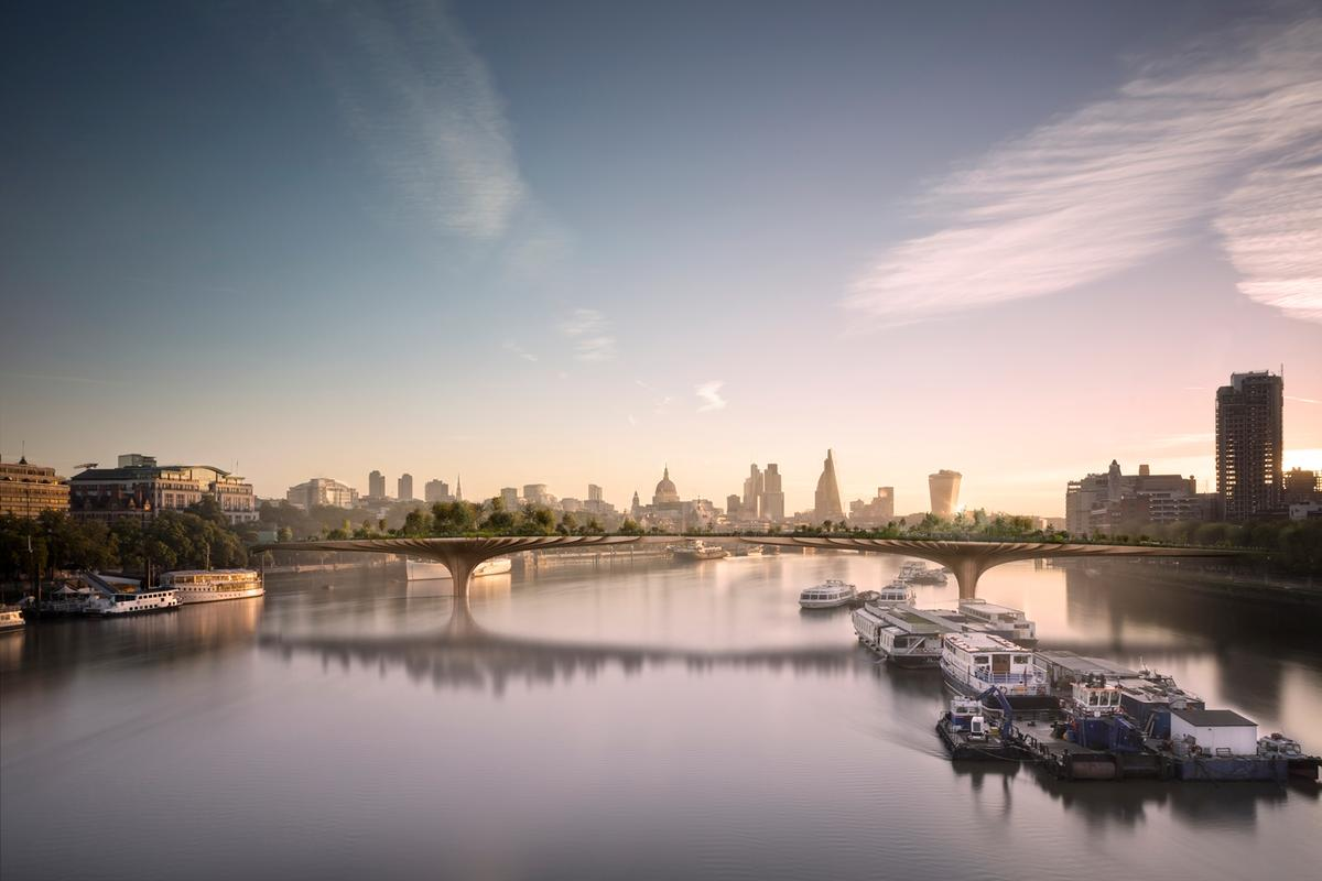 London's proposed Garden Bridge is expected to open to the public in 2018 (Image: Arup)