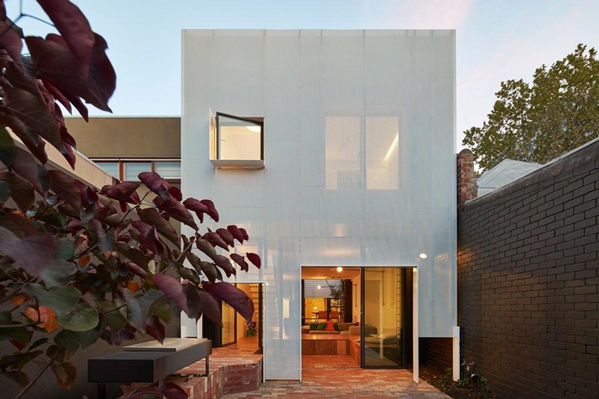 The recently-completed home is located in Melbourne, Australia