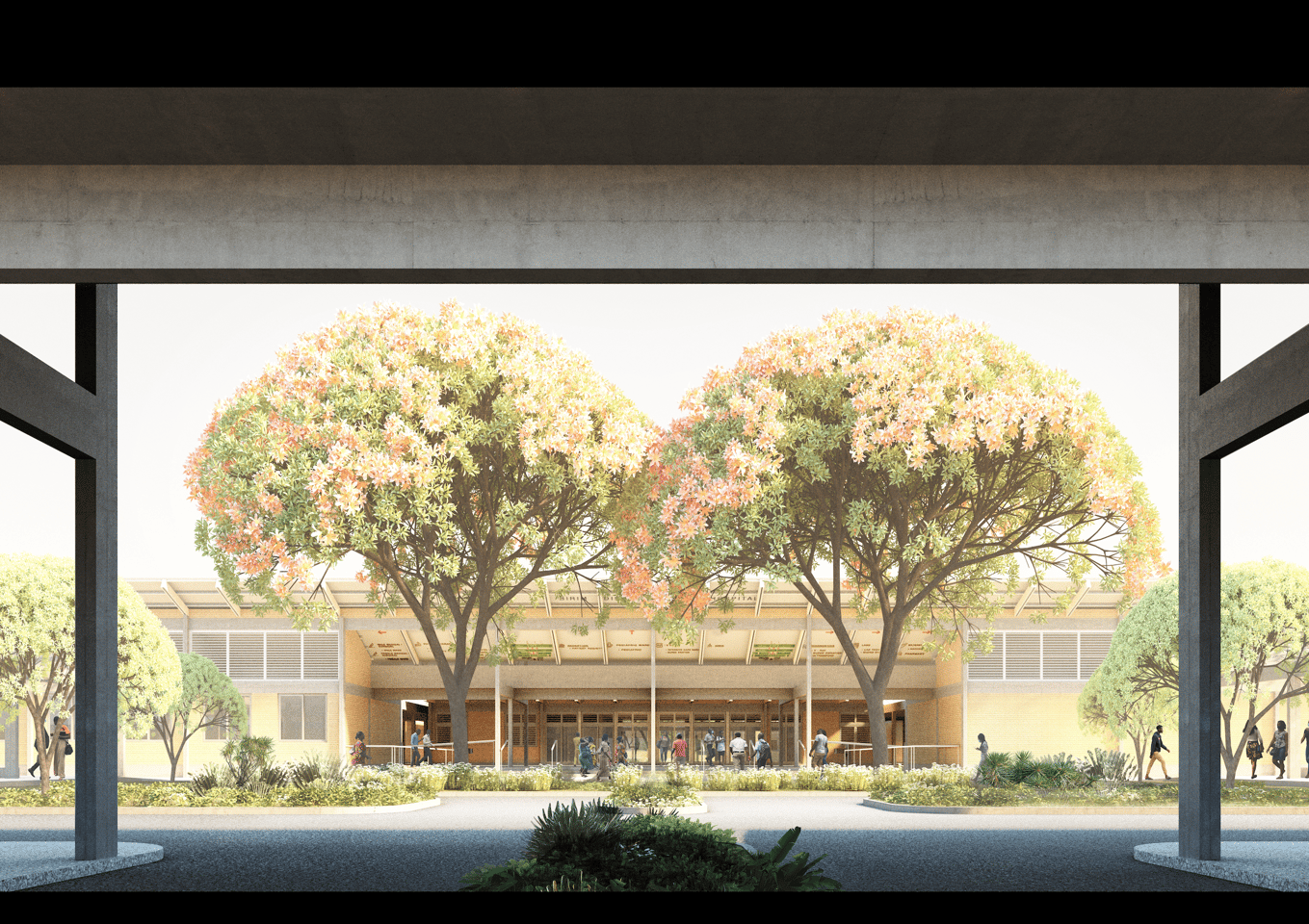 District Hospitals will feature significant landscaping