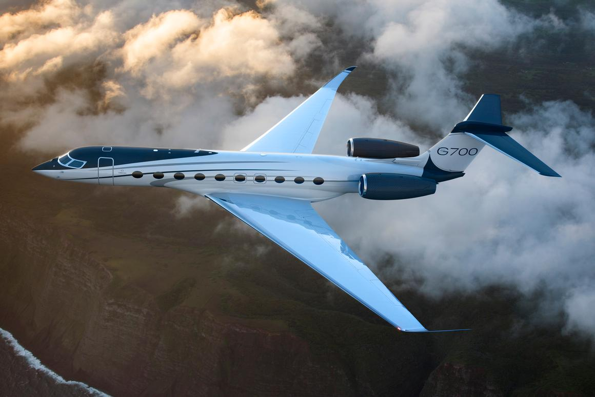 Rendering of the Gulfstream G700