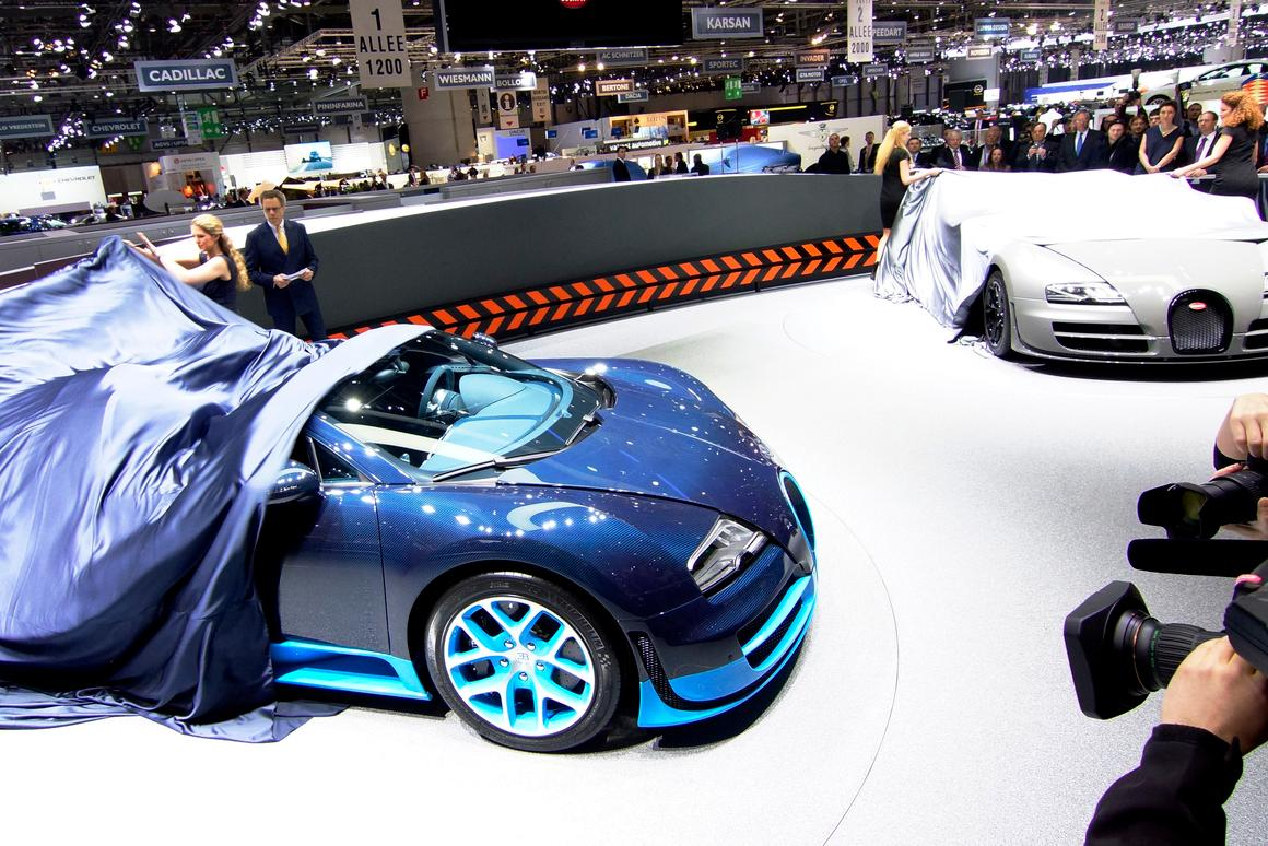 The Bugatti Veyron 16.4 Grand Sport Vitesse will be limited to 233 mph