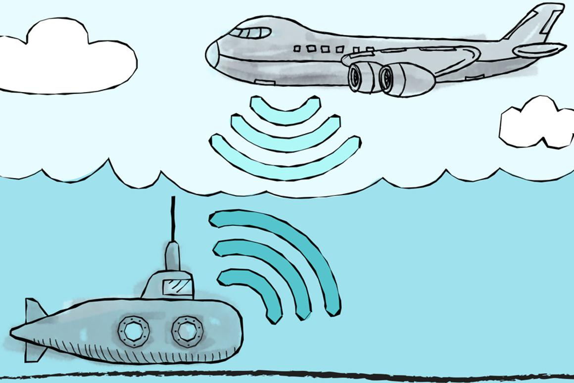 MIT Media Lab researchers have designed a system that allows underwater and airborne sensors to directly share data