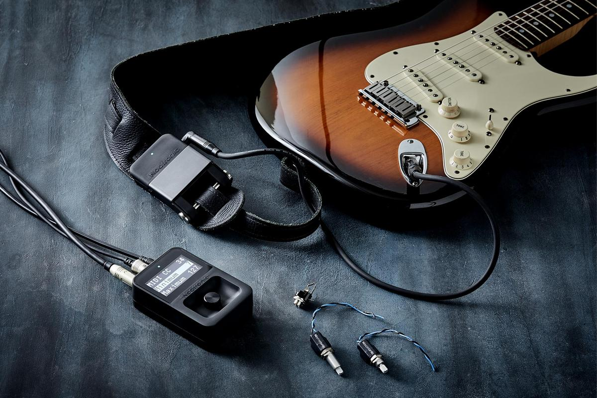 The Noatronic system allows players to wirelessly control any MIDI-enabled effects pedal directly from a guitar